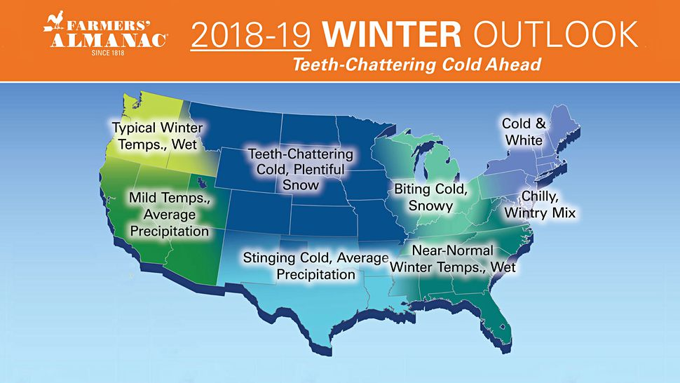 Winter outlook farmers almanac teeth chattering 2018 update
